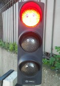 I also saw this traffic light with googly eyes. I like the street art here.